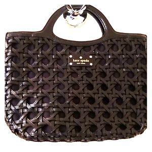 Kate Spade Black Leather and Microfiber Bag